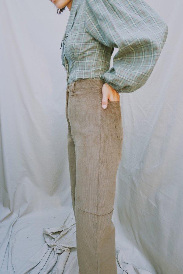 sample abbi pant - size 4 - moss cord