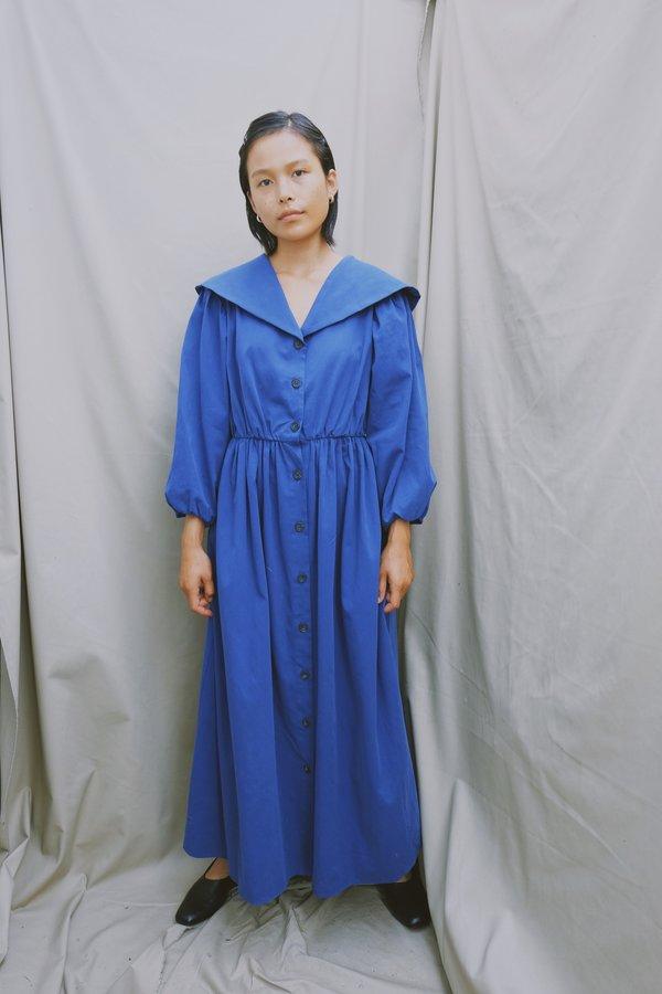 sample thielma dress - size s - azul