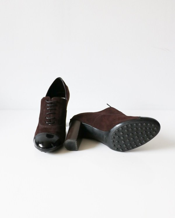 Tod's Suede Oxford Pumps, Size 37