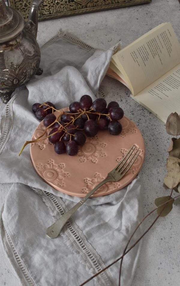 OWO Cerámica Victorian Lunch Plate - Pink