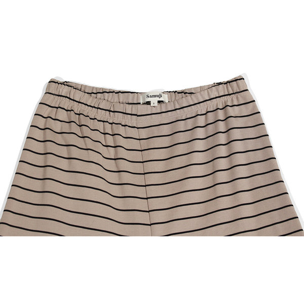Samuji Striped Knit Trousers - Sand/Black
