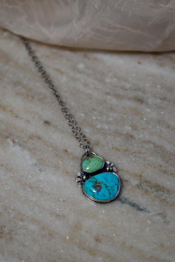Blue & Blue Double Turquoise Necklace