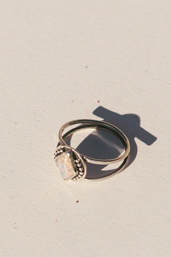 Blue & Blue Vintage Glass Ring