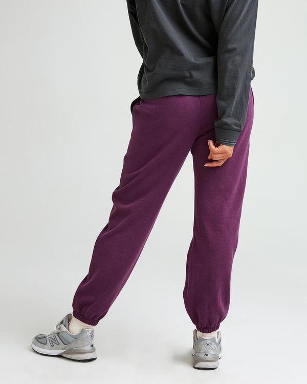 Richer Poorer Pantalon Coton Ouaté Recyclé - Vin De Mûre