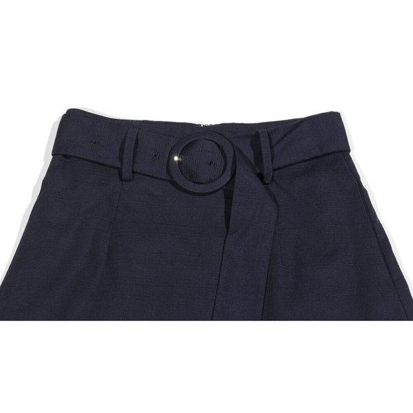 Sayaka Davis High Waisted Flared Skirt - Navy