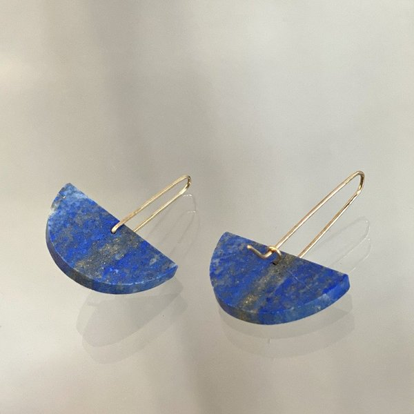 ALISON JEAN COLE Single Stone Earrings - Lapis Lazuli