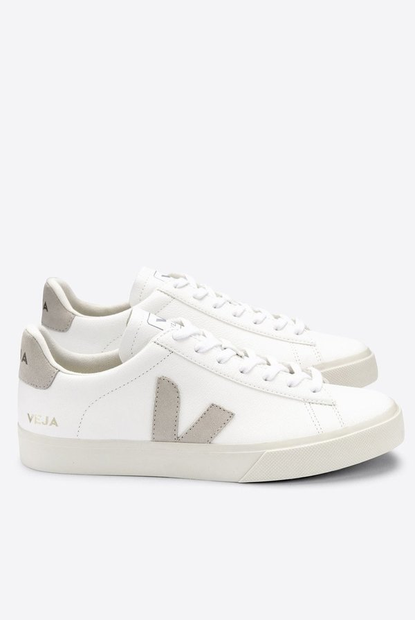 VEJA Campo Chromefree sneakers - White/Natural-Suede