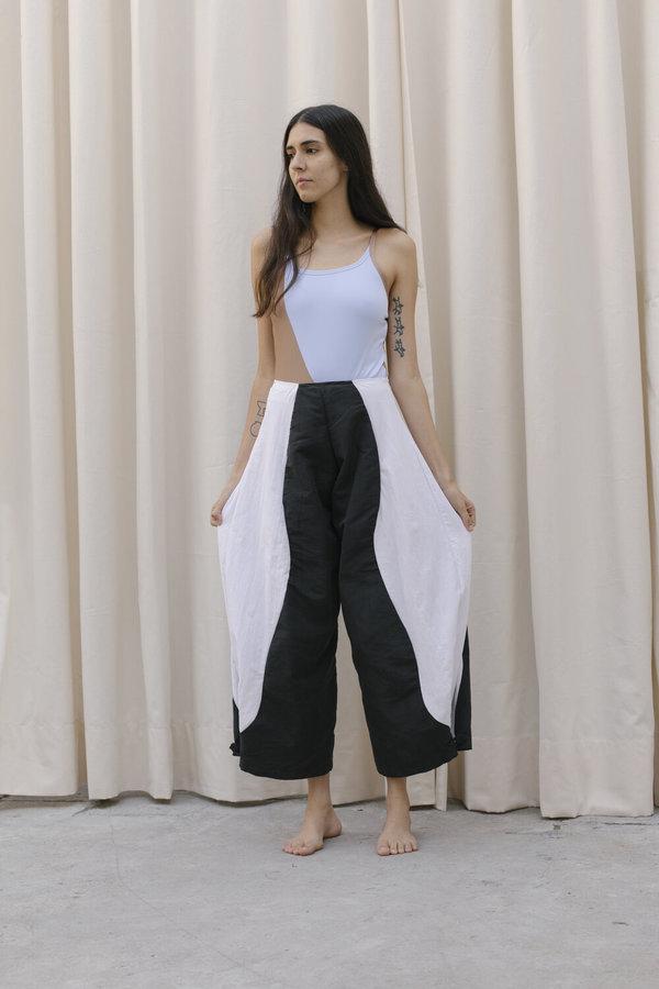 Nin Studio Nylon Swirl Pant - Black/White