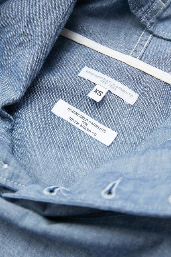 Engineered Garments for Totem Brand Co. Cagoule Shirt Jacket - Blue