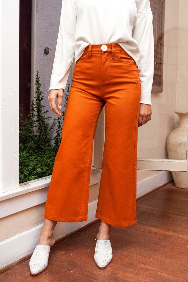 Whimsy + Row Flora Pant - Rust