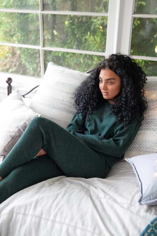 Thread & Supply Hobbes Ribbed Pants - Evergreen