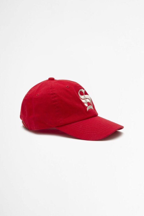 Sporty & Rich Old English S Hat - Sport Red