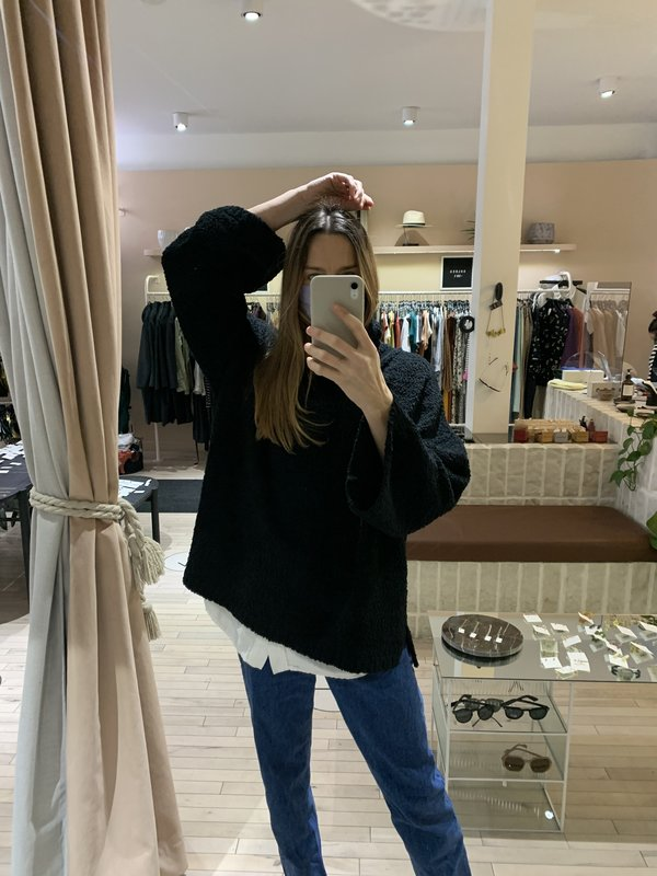 Melissa Nepton LAYLA SWEATER - BLACK