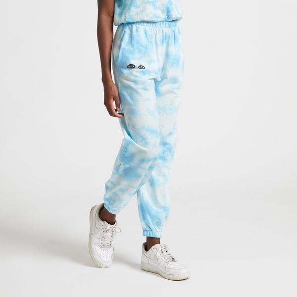 Clare V. Cotton Tie Dye Sweatpants - blue/white