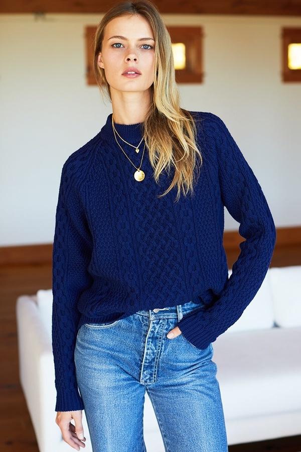 Emerson Fry Fisherman Sweater - Indigo