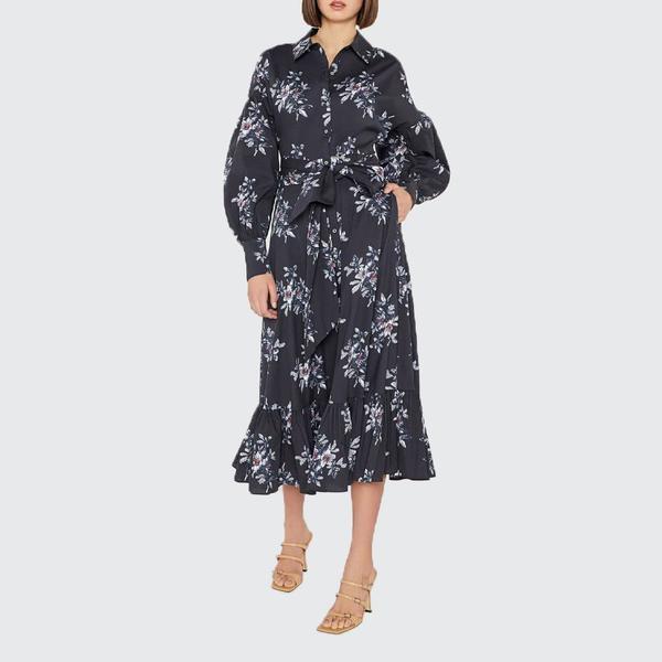 Cinq A Sept Freesia Marley Dress - Black Multi