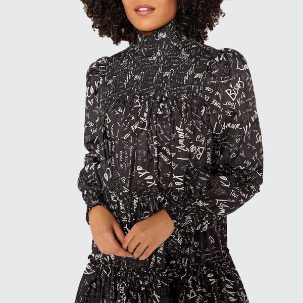 Cinq A Sept Love Note Rika Dress - Black/Ivory
