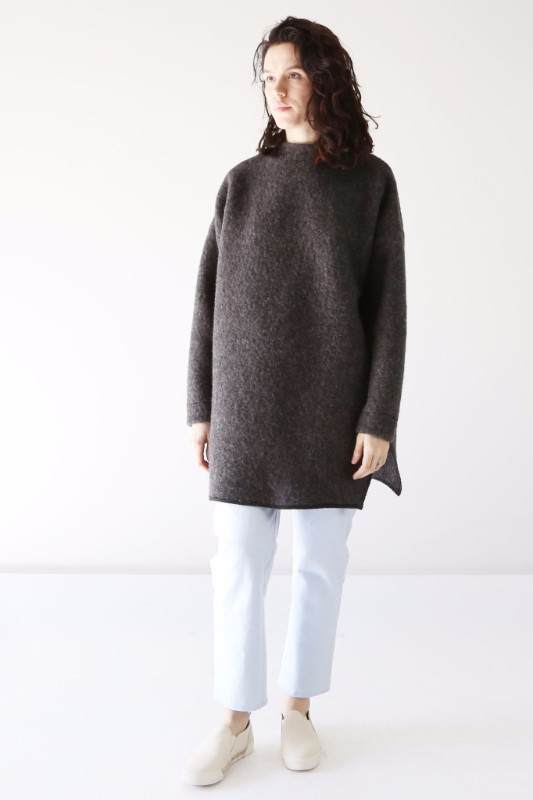 Hackwith Design House High Neck Sweater - Gray