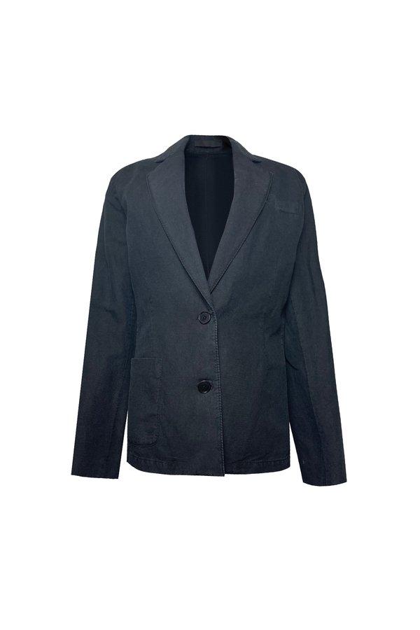 KES Twill Blazer - Washed Black
