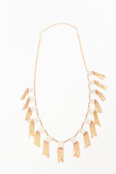 Hannah K Hula Necklace - Brass/Silver