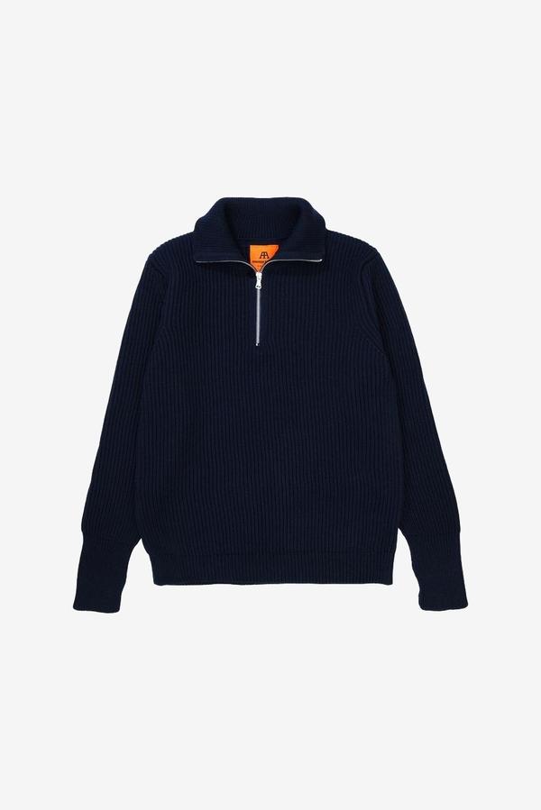 Andersen-Andersen Half Zip Sweater - Navy Blue