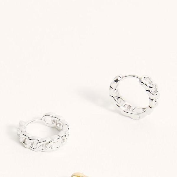 Joy Dravecky - Chainlink Mini Hoop (Silver)