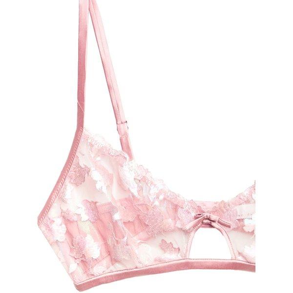 fleur du mal Prisma Embroidery Cutout Bralette - Rose Pink
