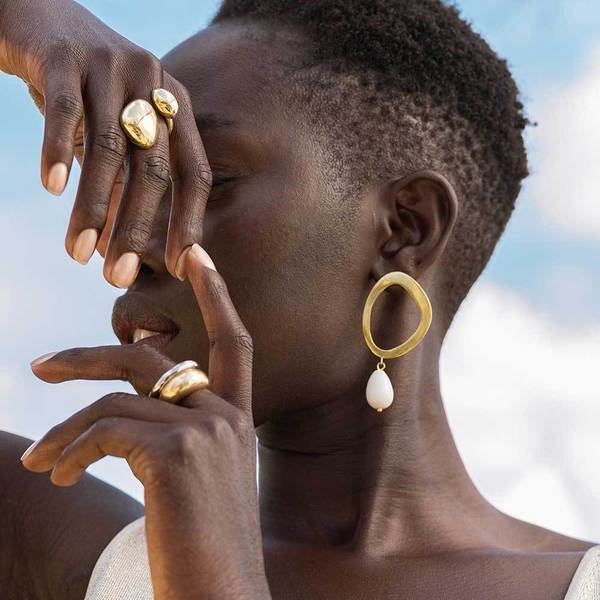 Soko Sabi Statement Ring - Gold Plated