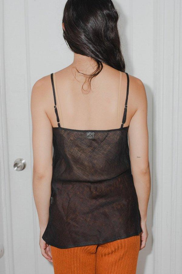Baserange Linen Dydine Top - brown