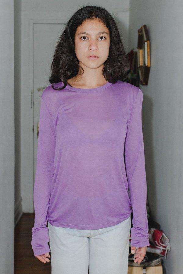Baserange Bamboo Jersey Long Sleeve - purple