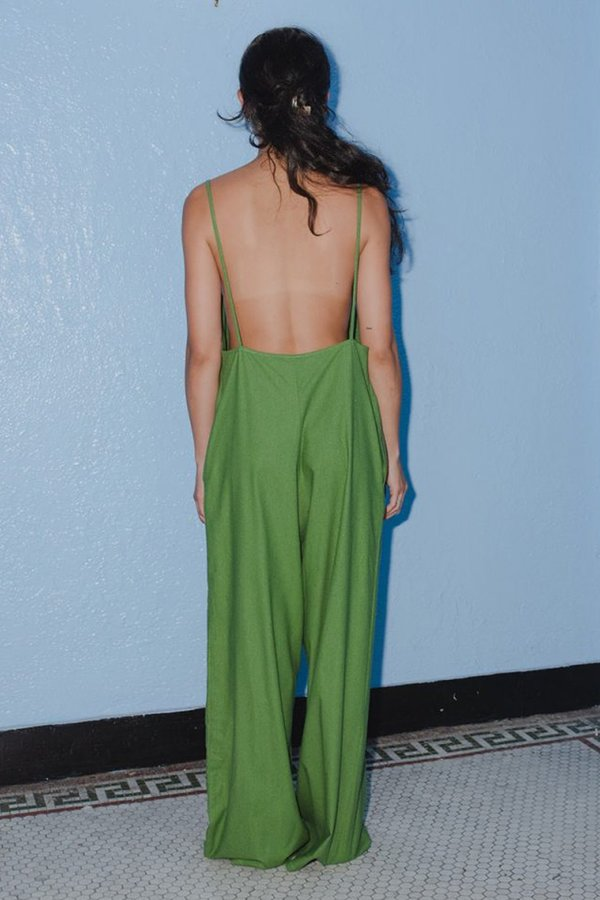 Baserange Yumi Jumpsuit - Sun Moss Green
