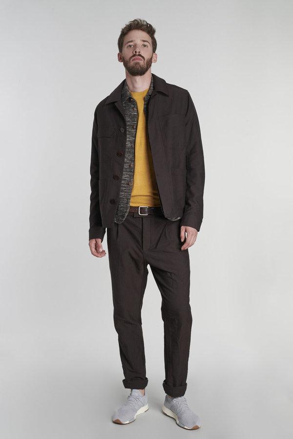Delikatessen Wool and Cotton Retro Trousers - Dark Brown