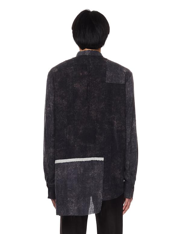 Ziggy Chen Asymmetric Patchwork Shirt