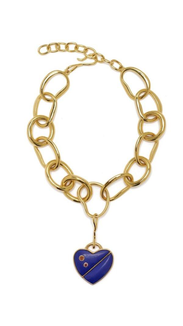 Lizzie Fortunato Porto Necklace - Lapis Heart