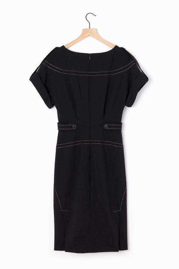 Alberta Ferretti Gabardine Dress