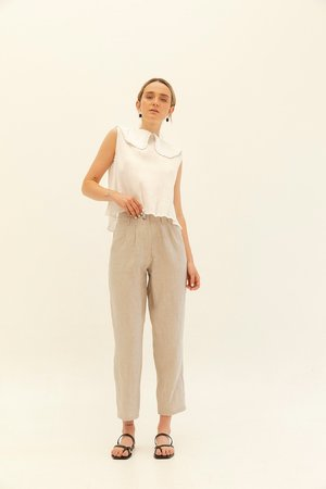 Muse the Label Ada Pants - Oatmeal