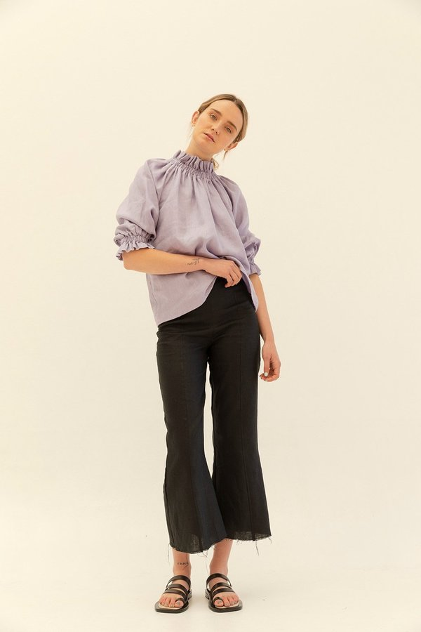Muse the Label Celia Frill Blouse - Lilac