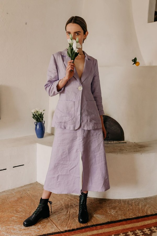 Muse the Label Fleur Jacket - Lilac