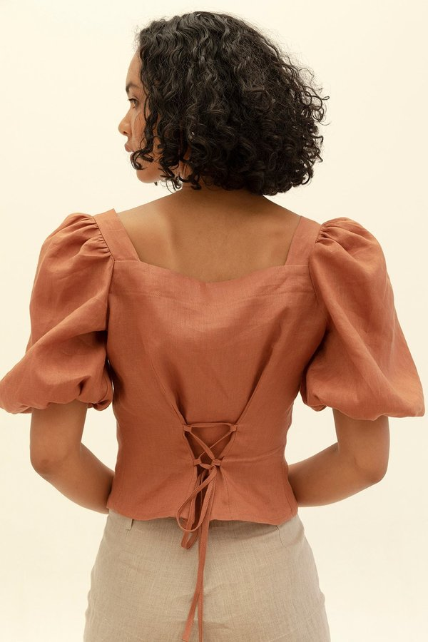 Muse the Label Josie Blouse - Caramel