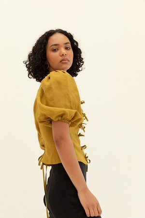 Muse the Label Josie Blouse - Pear