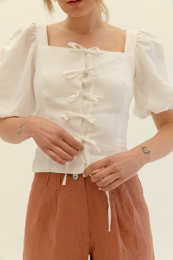 Muse the Label Josie Blouse - White