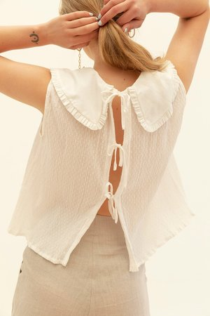 Muse the Label Juliet Tank - White