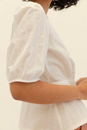 Muse the Label Sadie Pintuck Shirt