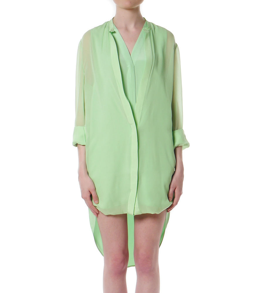 3 1 phillip lim hem layered shirt dress garmentory for Locker loop dress shirt
