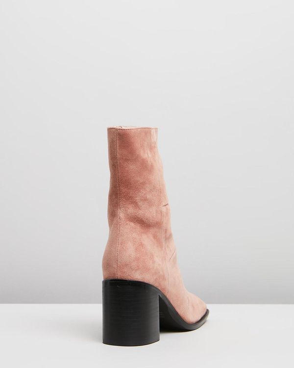 """""""INTENTIONALLY __________."""" More Hugs Boot - Rose Suede"""