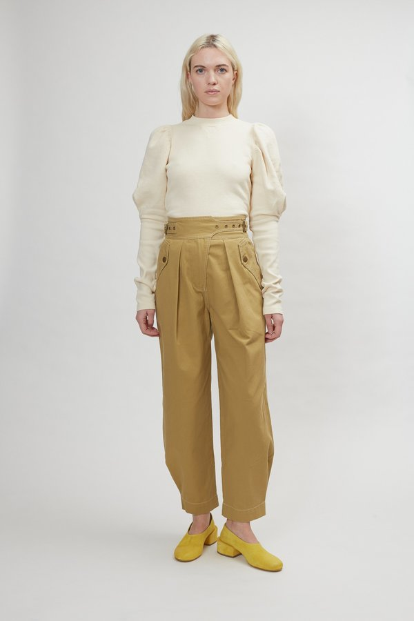 Ulla Johnson Dune Trouser - Fennel Seed