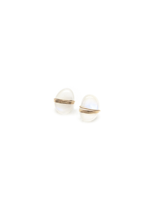Mary Macgill Moonstone Stud Earrings