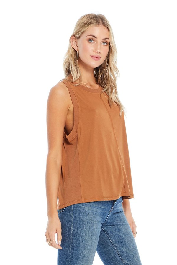 Saltwater Luxe Muscle Tank - Amber