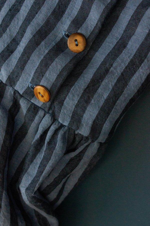 Cawley Elba Stripe Linen Dress