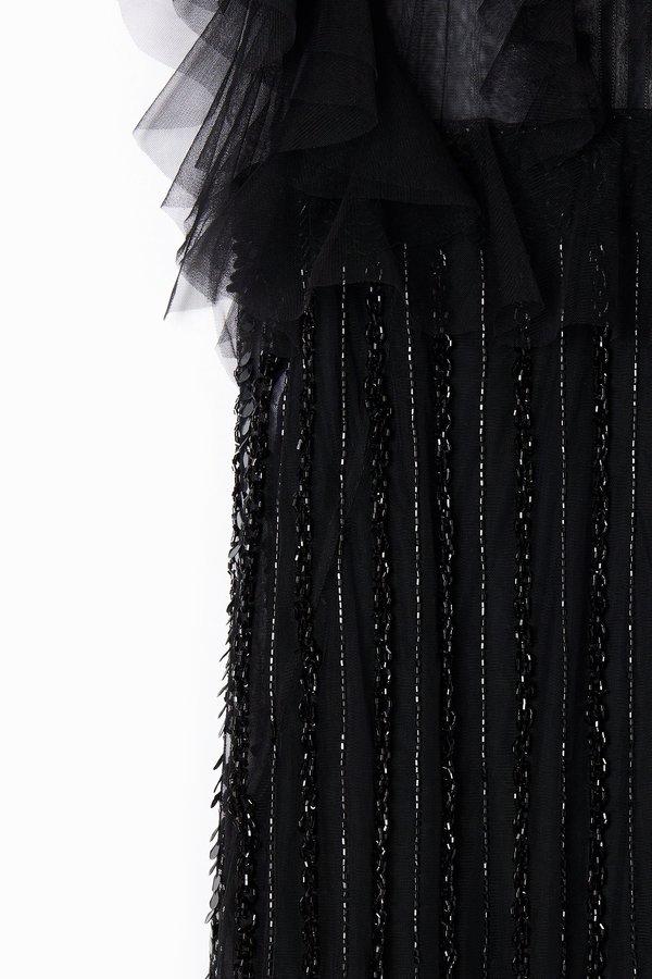 Alberta Ferretti Sequin Embellished Dress - Black
